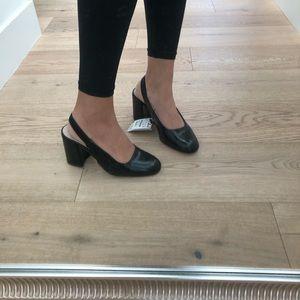 Zara sling back heels size 37